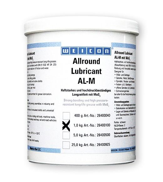 WEICON Allround-Lubricant 1 kg AL-M 1000 Langzeitfett m,MoS2, 26400100