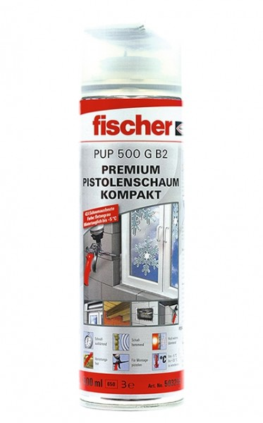 Fischer Premium Pistolenschaum Kompakt PUP 500, 503259