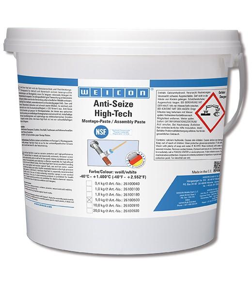 WEICON Anti-Seize ASW 5000 5 kg, High-Tech Montagepaste, 26100500