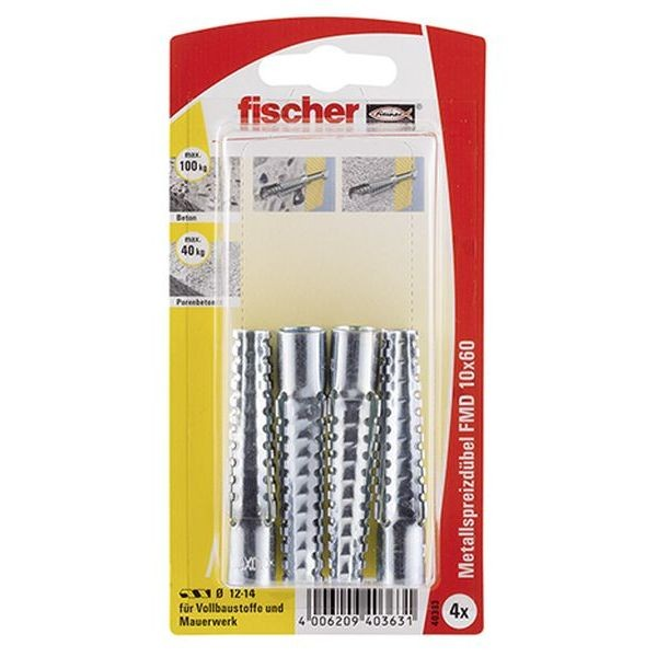 Fischer Metallspreizdübel FMD 10x60 K (4), 040363