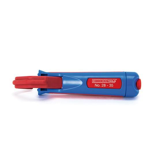 WEICON Kabelmesser 28-35 blau/rot, Blister, 50050435