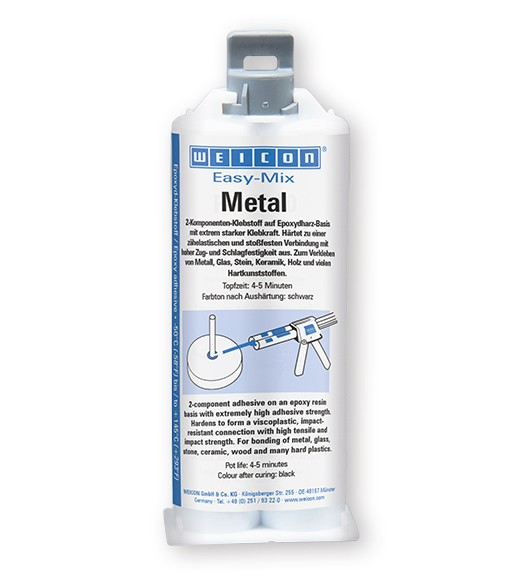 WEICON Easy-Mix Metal 50 ml Epoxyd-Klebstoff, 10652050