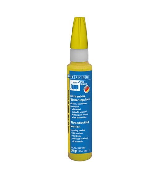 WEICON Schrauben-Sicherungslack 60 g, gelb, 30021060