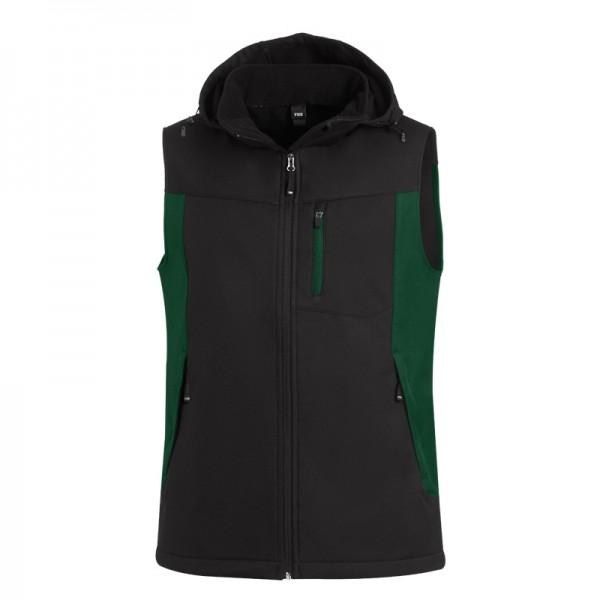 FHB JUSTUS Softshell Weste 79110 2520-grün-schwarz