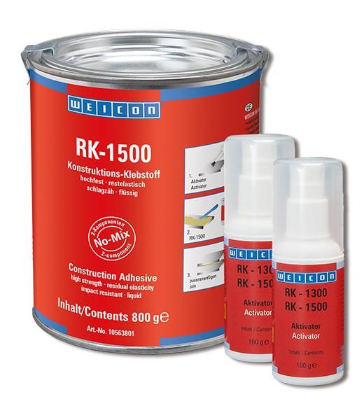 WEICON RK-1500 Konstruktions- Klebstoff + Aktivator 1 kg, 10563800