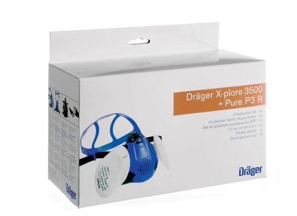 Dräger Halbmaske Handwerkerset X-plore 3500 M + 2 Bajonettfilter Pure P3, R56960