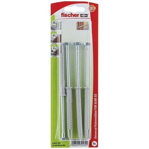 Fischer Langschaftdübel SXRL 8x80 FUS K (4), 030169