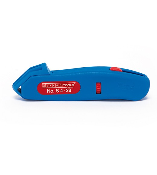 WEICON Kabelmesser S 4-28 blau/rot, Blister, 50055328