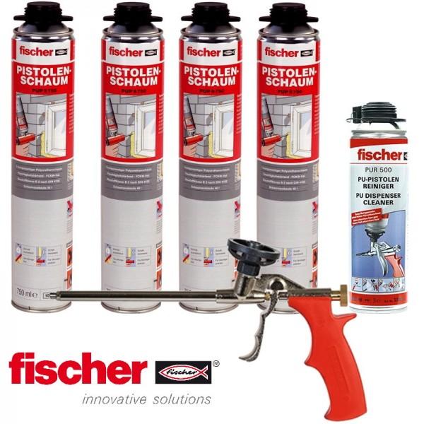 fischer Schaumpaket PUP 750 B2 Kartuschen + PU-Reiniger + Pistole PUP M3