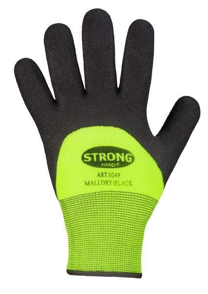 Mallory/Black Stronghand® Handschuhe gelb/schwarz Nitril gesandet, 0249