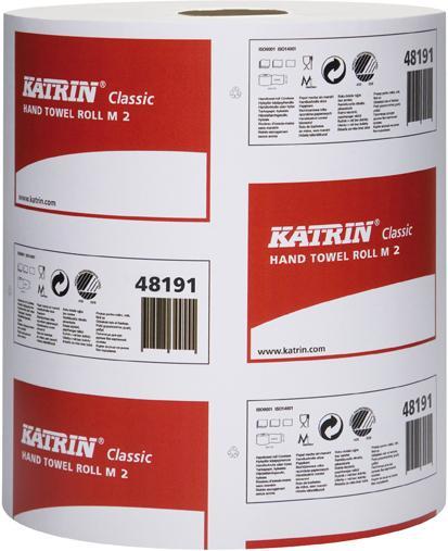 KATRIN Classic M2 Handtuchrolle, weiß, 20,5 x 38,0 cm, 2-lagig, 481911
