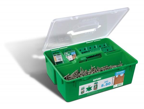 SPAX® Green Box Terrasse Edelstahl rostfrei A2 5x50 - 5000009010009