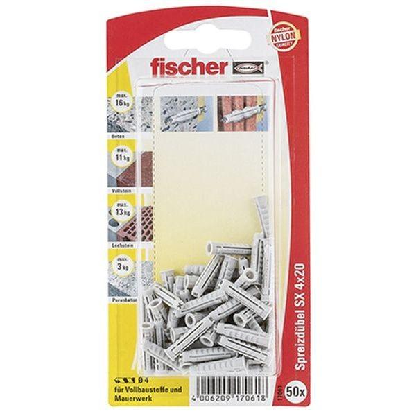 Fischer Dübel SX 4x20 K (50), 017061