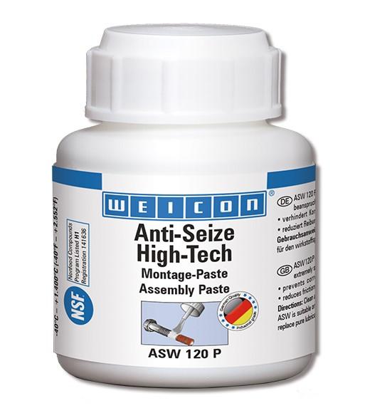 WEICON Anti-Seize ASW 120 P 120 g, High-Tech Montagepaste, 26100012