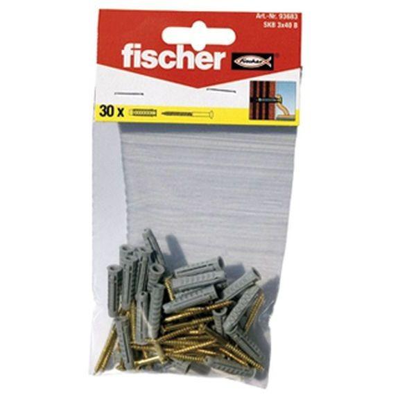 Fischer Sockelleistenbefestigung SKB 3x40 K (30), 093683