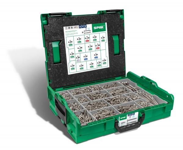 SPAX® Montagekasten, Edelstahl A2 , L-BOXX, 1070-teilig, 5000009165019