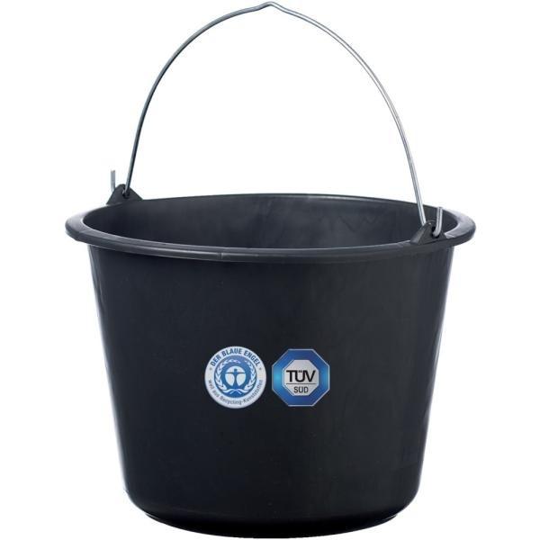 Kunststoff Baueimer Schwarz 20 Liter