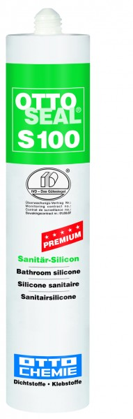 Ottoseal S 100 Premium Sanitär Silicon - 300 ml Kartusche