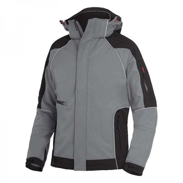 FHB Softshell-Jacke WALTER 78518 1120-grau-schwarz