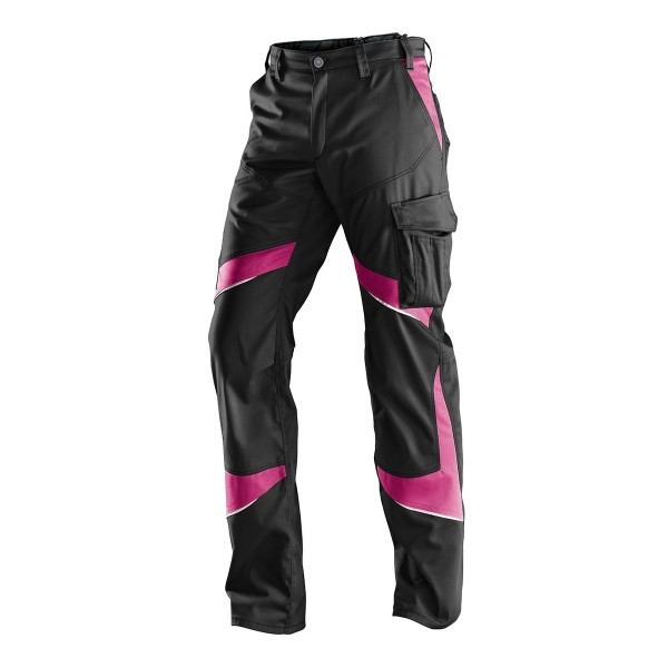 Kübler ACTIVIQ Damenhose schwarz/pink, 25505365 9952