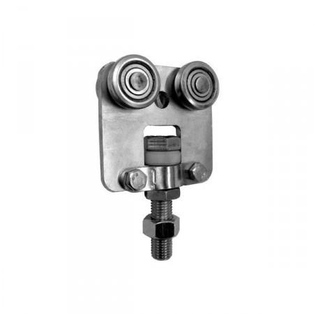 MEA Doppelrolle Gr. 4 Zentral drehbar, 010336952 galv. verzinkt & chrom.