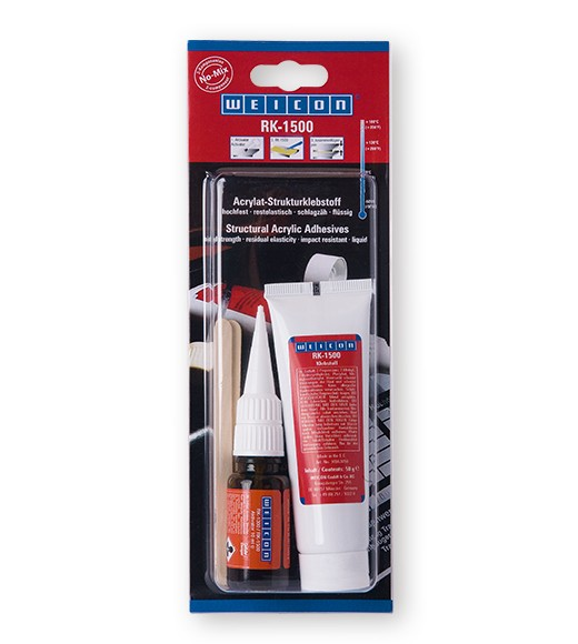 WEICON RK-1500 Konstruktions- Klebstoff + Aktivator 60 g Tube, 10563860