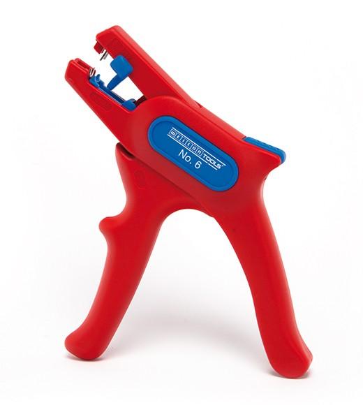 WEICON Abisolierzange No,6 1000 Volt, rot/blau, Blister, 51000006