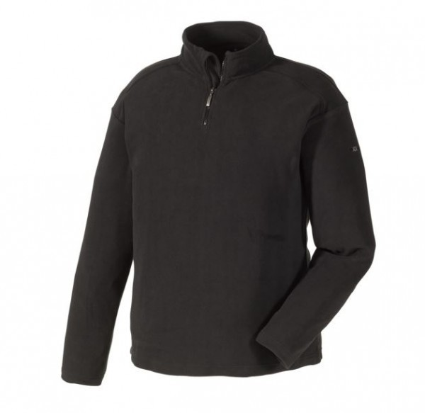 Texxor Microfleece-Pullover STAVANGER, schwarz, 8717