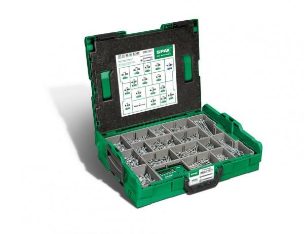 SPAX® Montagekasten, WIROX A3J, L-BOXX, Kunststoff, groß, Senkkopf T-STAR plus, 16 Abmessungen, 2446