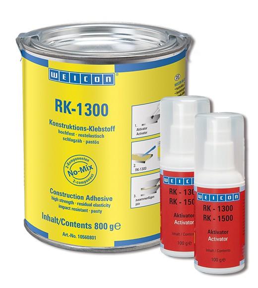 WEICON RK-1300 Konstruktions- Klebstoff + Aktivator 1 kg, 10560800