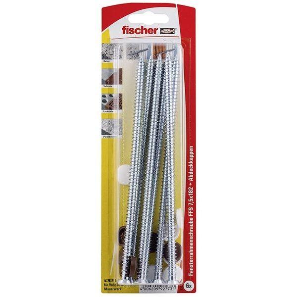 Fischer Fensterrahmenschraube FFS 7,5x182 K (6), 092773