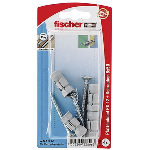 Fischer Plattendübel PD 12 S K (4), 033806