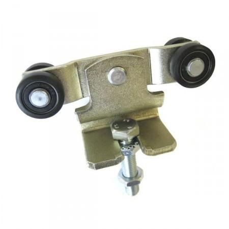 MEA Doppelrolle Gr. 1 mit Kunststoffaussenring, 010336413 galv. verzinkt & chrom.