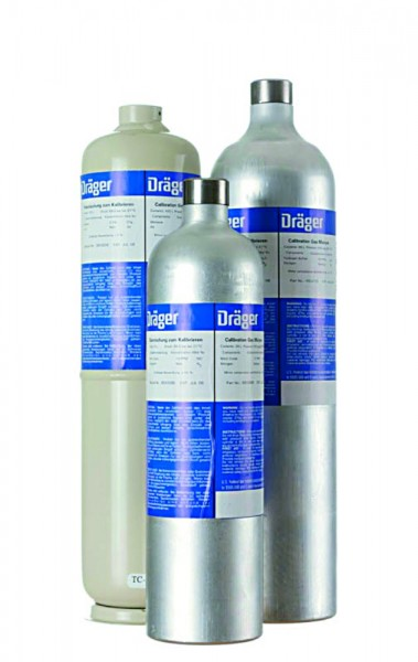 Dräger Prüfgas 60L, 15ppmH2S, 2,2%CH4, 18%O2/N2, 6811647