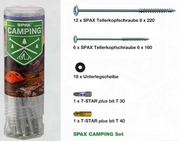 SPAX® Camping Set, 4000009100019