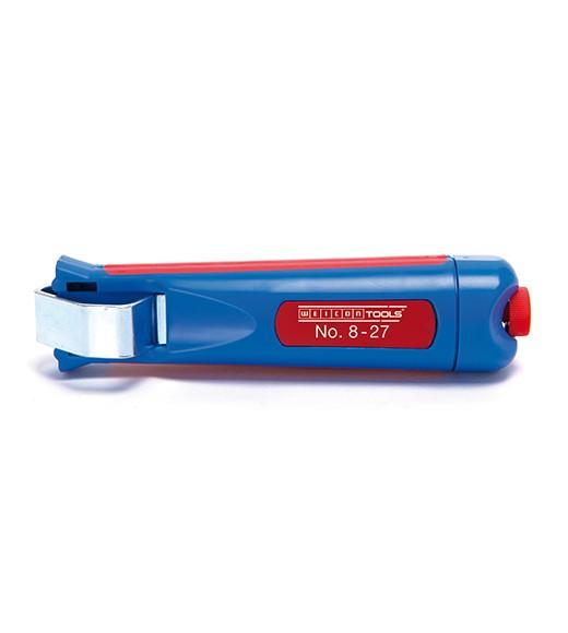 WEICON Kabelmesser 8-27 blau/rot, Blister, 50050227