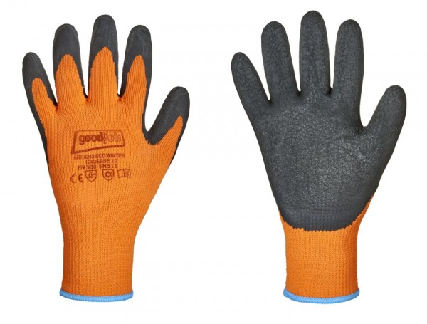 Eco Winter Goodjob® Handschuhe orange schwarz, 0234