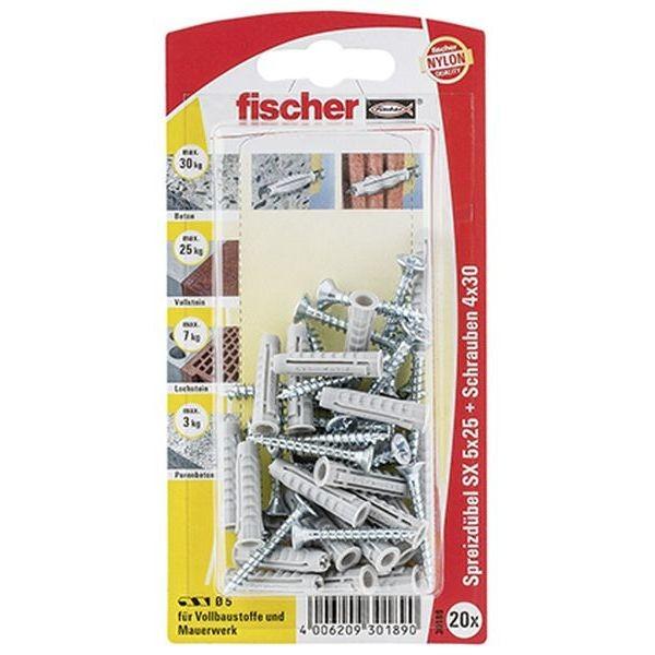 Fischer Dübel SX 5x25 S K (20), 030189