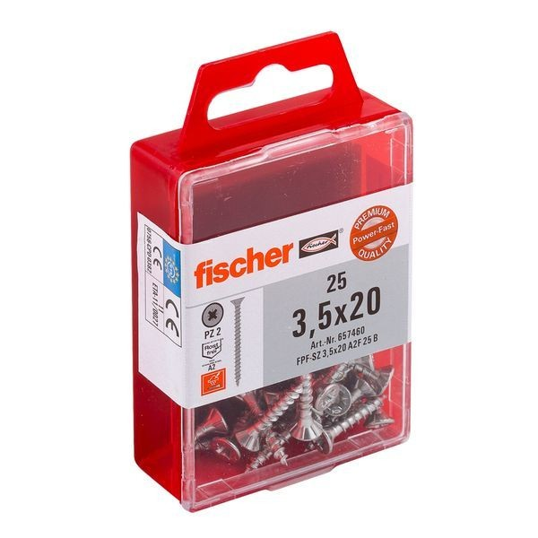 Fischer Power-Fast 3,5x20 SK A2 VG PZ, 657460