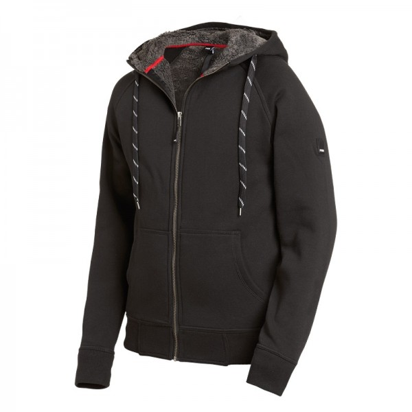 FHB Sweater-Jacke mit Kapuze und Webpelz JÖRG 79293 20-schwarz