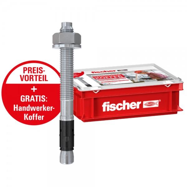 Fischer Handwerkerkoffer, 100 St. FAZ II 12/10 gvz, 544784