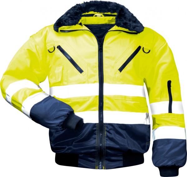 Gunnar Norway-Pilotenjacke 4 in 1 mit Warnschutz, gelb-marine, 23648