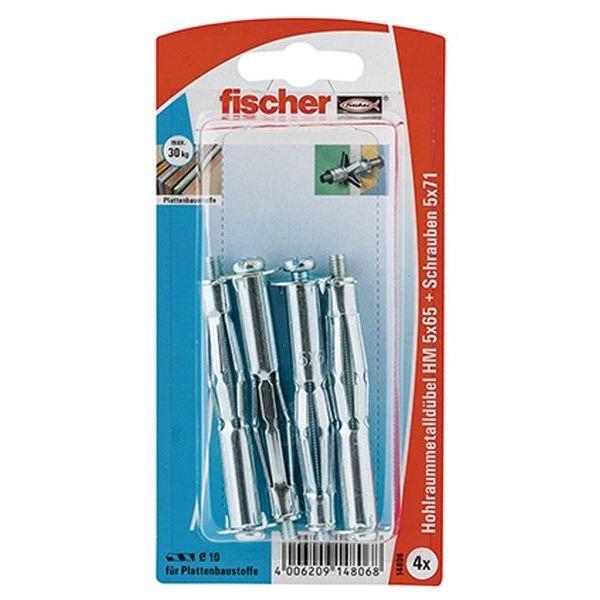 Fischer Hohlraum-Metalldübel HM 5x65 S K (4), 014806