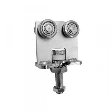 MEA Doppelrolle Gr. 2 Horizontal drehbar, 010336452 galv. verzinkt & chrom.