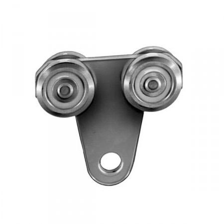 MEA Doppelrolle Gr. 1 zum Einhängen, 010336834 galv. verzinkt & chrom.