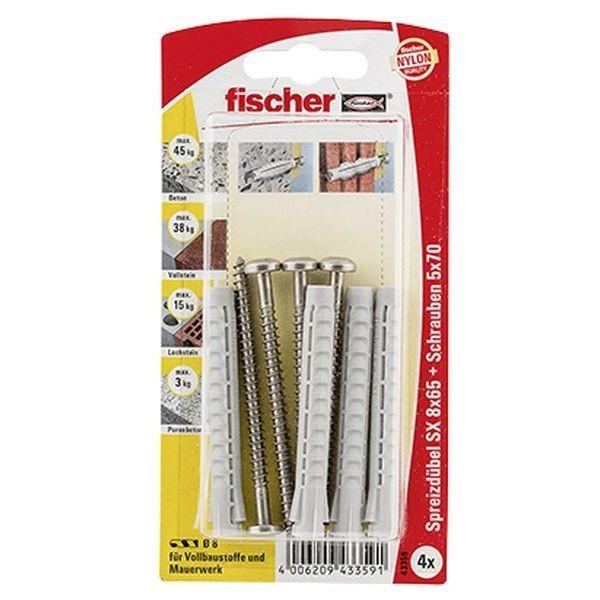 Fischer Dübel SX 8x65 S A2 K (4), 043359