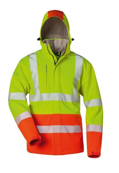 Safestyle® Henning Wattierte Warnschutz-Softshelljacke gelb/schwarz, 23561